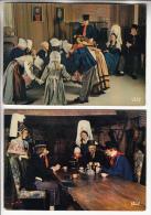 GROUPE FOLKLORIQUE DU BOIS D'ENNEBOURG ( Normandie ) Petit Lot De 2 CPSM CPM GF - - Folclore