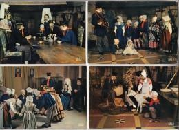 GROUPE FOLKLORIQUE DU BOIS D'ENNEBOURG ( Normandie ) Petit Lot De 4 CPSM CPM GF - - Folclore