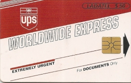 CARTE-PUCE-MEXIQUE-GEM-50 $-UPS-WORLDWINE EXPRESS-1998-TBE
