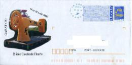 PAP Illustré Garat 16 25e Cavalcade Fleurie En Août 2006 + Néopost 03151A - Machine à Coudre Fleur - Enteros Postales