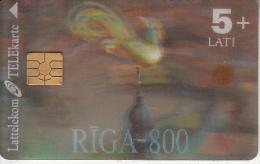 LATVIA - Riga 800, Lattelekom 3D Telecard, Tirage 80000, Exp.date 01/03, Used - Letland