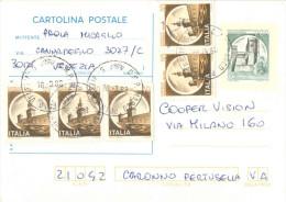 J556) ITALIA CARTOLINA POSTALE CASTELLI LIRE 200 DEL 1981 VIAGGIATA - 6. 1946-.. Repubblica