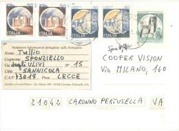 J553) ITALIA CARTOLINA POSTALE CASTELLI LIRE 200 DEL 1981 VIAGGIATA - 6. 1946-.. Repubblica
