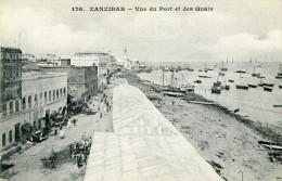TANZANIE ZANZIBAR - Vue Du Port Et Des Quais Verso Illustré Messageries Maritimes - Tanzania