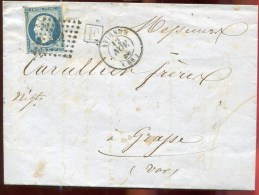 73598 - 14 PC 209 Cad Type 14 AVIGNON (86) Nov 1855, Boite Rurale F S/LAC En Rapport TB - Marcophilie (Lettres)