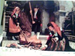 COSTUMI  RAGAZZE  RAGAZZO  SPACCANO LEGNA LAVORO CASTEL DI SANGRO    VB1976  EN9728 - Costumi