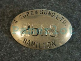 """Employee Identification Tag (pin). Badge ( """"15 Gr 5.5 X 3.5 X 1 Cm """" A. Cope & Sons LTD Hamilton Ontario Canada ) 2 - Other"""