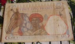 Billet 25 Francs Afrique 1938 - Afrique Orientale