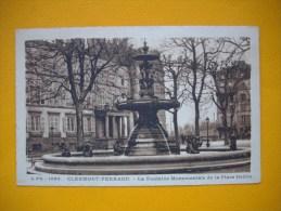 Cpa    CLERMONT FERRAND  - 63   -  La Fontaine Monumentale De La Place Delille    - Puy De Dôme - - Clermont Ferrand