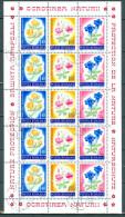 Rumänien - Kleinbogen Mi-Nr. 3103 - 3105 Blumen Trollblume Türkenbund Enzian Gestempelt - Pflanzen Und Botanik