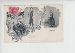 Bugaria, 5stot. On LITHO Postcard Gruss Aus Type, Bulgarian Costume - 1879-08 Principalty