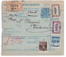 HONGRIE - ENTIER BULLETIN EXPEDITION COLIS ZAGREB 1916 - Entiers Postaux