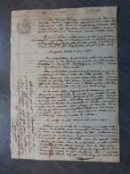 16 ANGOULEME 1850 Procès L. Barbery Vs P. Richon, Travaux Publics ; Ref 432 - Documents Historiques