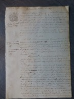 17 MARENNES 1850 Procès Elie VITEL Vs A. Faure, VINS, Commerce Templier Et Vitel; Ref 433 - Historical Documents