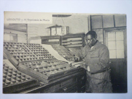 LESSOUTO  :  A L'Imprimerie De  MORIJA - Lesotho