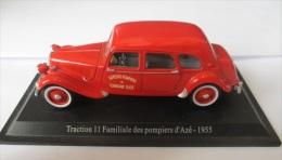 Mod�les r�duits �chelle1:43 voitures Citroen Traction 11 familiale pompiers d'Az� 1955 �ditions Atlas pas solido