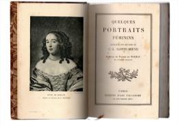C.A.Sainte-Beuve.Quelques Portraits Féminins.XI-236 Pages.1927. - Books, Magazines, Comics