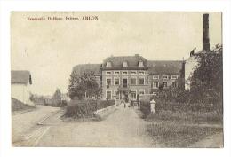 CP Brasserie Delfone Fr�res - ARLON - RARE - cachet postal Tintigny et Arlon - 1911 -