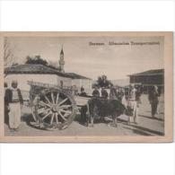 REURPTP1790C-LFTD2659TCSC. TARJETA POSTAL DE ALBANIA.Carro De Bueyes En El Pueblo. - Commercio