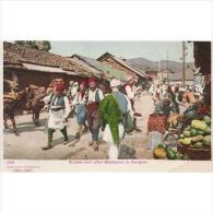 REURPTP1791-LFTD2753. TARJETA POSTAL DE BOSNIA HERZEGOVINA ACTUAL(EX YUGOSLAVIA).Mercado,vendedores,animales.SARAJEVO. - Albania