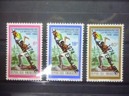 REP. RWANDA 606/608  xx ( COB ) COTE : 16 EURO ( B )