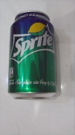 Vietnam Viet Nam Empty Sprite Coca Cola 330ml Can - Design For Promotion In 2014 - Cans