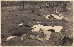 Carte Photo Afrique Congo Cimetière Tombe De Noirs 1923 - Afrika