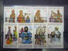 REP. RWANDA 690/697  xx ( COB ) COTE : 6.50 EURO ( B )