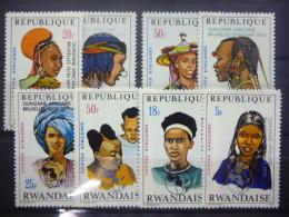 REP. RWANDA 553/560  xx ( COB ) COTE : 6.50 EURO ( B )