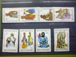REP. RWANDA 346/353  xx ( COB ) COTE : 6.50 EURO ( B )