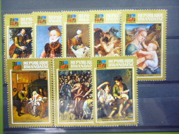 REP. RWANDA 527/534  xx ( COB ) COTE : 5.00 EURO ( B )