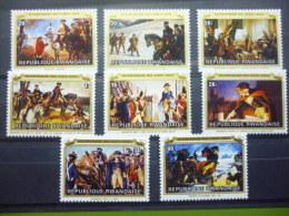 REP. RWANDA 721/728  xx ( COB ) COTE : 4.25 EURO ( B )