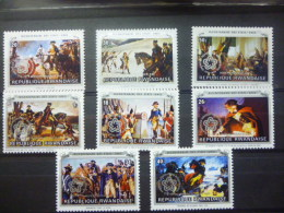 REP. RWANDA 753/760  xx ( COB ) COTE : 4.00 EURO ( B )