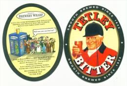 UNITED KINGDOM  -  Tetley Bitter  Beermat As Scan - Beer Mats