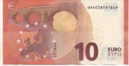 10€ France Draghi UA U 002E1 Non Circulé - 10 Euro