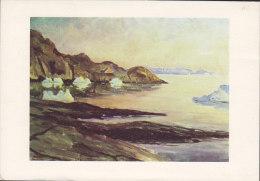 Greenland PPC Jakobshavn K. Witt-Møller Kunstforlag JULIANEHÅB 1962 W. Christmas Seal To NARSSARSSUAQ (2 Scans) - Grönland