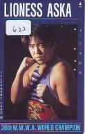 Télécarte  Japon * SUMO (622) LIONESS ASKA * LUTTE  LUTTEURS WORSTELEN * JUDO * Kampf Wrestling * LUCHA  PHONECARD JAPAN - Japan