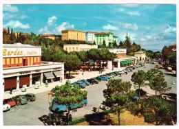K860 Chianciano Terme (Siena) - Piazza Italia - Auto cars voitures / viaggiata 1966