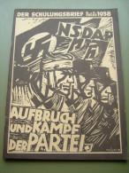 """Propaganda-Zeitschrift """"Der Schulungsbrief"""" Der Reichsorganisation Der NSDAP Berlin 1938, Top-Erhaltung!! - Revues & Journaux"""