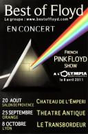 BEST OF FLOYD EN CONCERT FRENCH PINK FLOYD SHOW A L´OLYMPIA SPECTACLE MUSIQUE ARTISTE MUSICIENS - Publicité