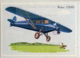 Image Chromo : Avion Potez (1930) - Chromos