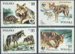 PL 1985-2975-8 W W F, POLAND, 4v, MNH - W.W.F.