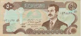 IRAQ  50 DINARS  SADAM HUSSEIN  S/C  -  UNC