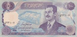 IRAQ  100 DINARS  SADAM HUSSEIN  S/C  -  UNC