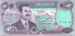 IRAQ  250 DINARS  SADAM HUSSEIN  S/C  -  UNC