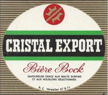"""Etiquette """"CRISTAL EXPORT"""" Bière. - Beer"""