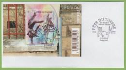 Env. Fête Du Timbre Bloc Danse De Rue  11.10.2014 Thann 68 - France
