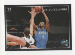 FIGURINA STICKER BASKETBALL STARS NBA 2009-2010 - PANINI - ORLANDO VS SACRAMENTO - N.150 - Panini