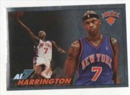 FIGURINA STICKER BASKETBALL STARS NBA 2009-2010 - PANINI - CHROMIUM STICKER - AL HARRINGTON - NEW YORK - N.24 - Panini