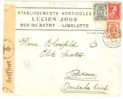 Belgien Ottignies Brief Zensur Geöffnet Oberkommando Der Wehrmacht Nr. 74 + 13 23.9.1942 Censored Owned Belgique Potsdam - Briefe U. Dokumente